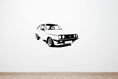 Ford Escort MK2 Retro Car Wall Art Decal Graphic Sticker. RS1600 RS2000 Rally