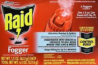 3-pack Raid concentrated Deep Reach Fogger Kills Ants, Roaches & Spiders -
