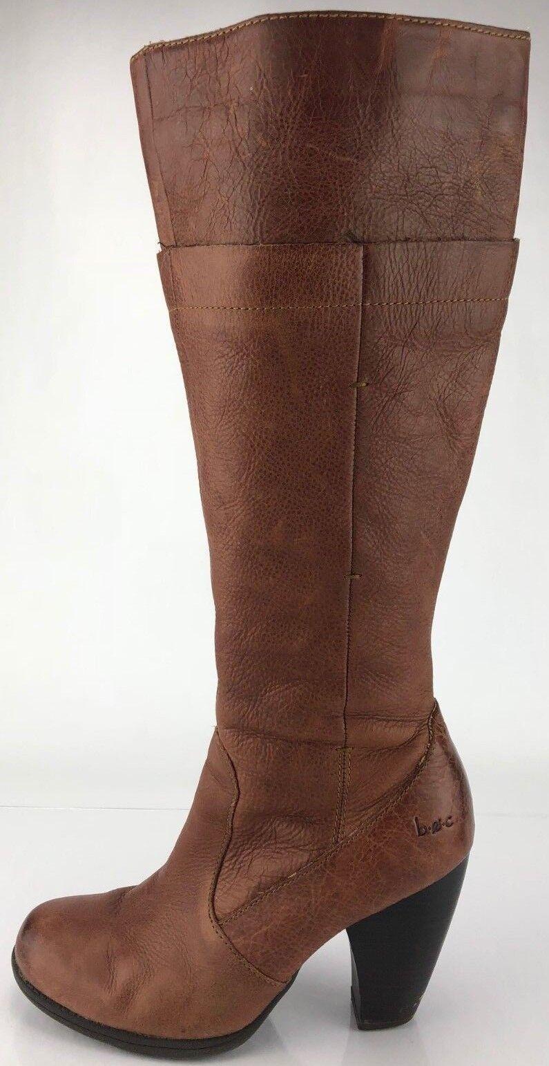 Zapatos de Vestir Vestir Vestir Boc la rodilla botas altas-Cremallera Lateral Cuero Tacón Moda para mujer 7 Marrón  promociones de descuento