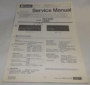 clarion ford am fm cassette digital radio service manual fdcsdr fdsd rh ebay com 2002 Ford Expedition Owner's Manual 2007 Ford Fusion Owners Manual