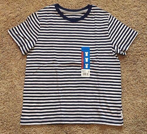 NWT Boy/'s Blue Stripe Short Sleeve Eddie Bauer Top T-Shirt Medium 8