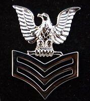 1st CLASS PETTY OFFICER US NAVY PIN E-6 CROW USS SAILOR
