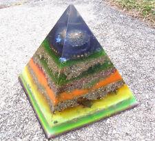 Large Photo luminescenThroat chakra High vibrational Tachyon Orgone HHG Pyramid