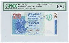 2003 Hong Kong $20 Dollars REPLACEMENT / STAR Note - Pick# 291 - PMG UNC 68 EPQ