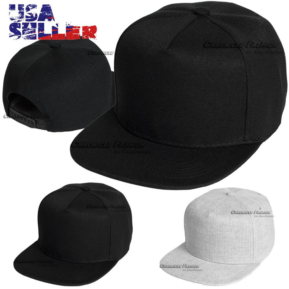 One Size Adjustable and Fast Post Unisex Black Plain Hip-Hop Baseball Caps