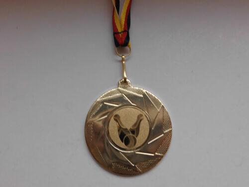 Bowling Pokal 20 x Medaillen 50mm mit Deutschland-Bändern Turnier Emblem Pokale