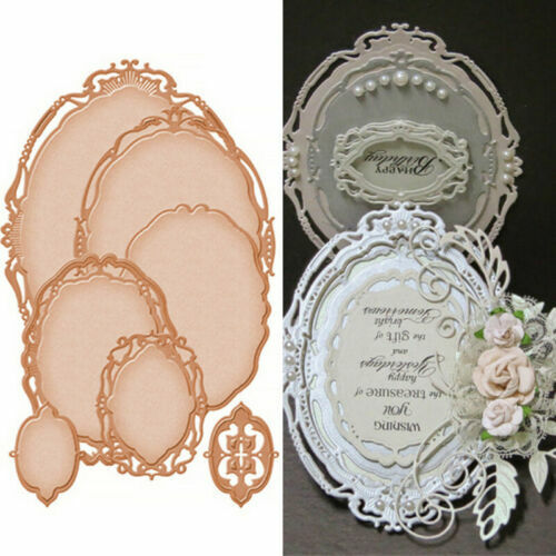 7 Pcs//lot Oval Metal Cutting Dies Stencils Scrapbook Embossing Craft Photo Frame