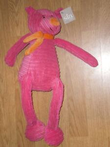 Doudou-Peluche-OURS-BEAR-BAR-ORSO-ROSE-orange-FILLE-45-Cm-SIA-KIDS-Deon-NEUF-9