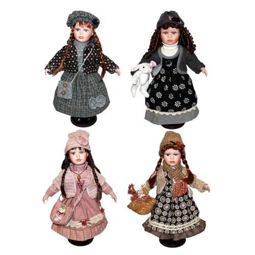 Bambola di giunzione vintage elegante in porcellana 40 cm
