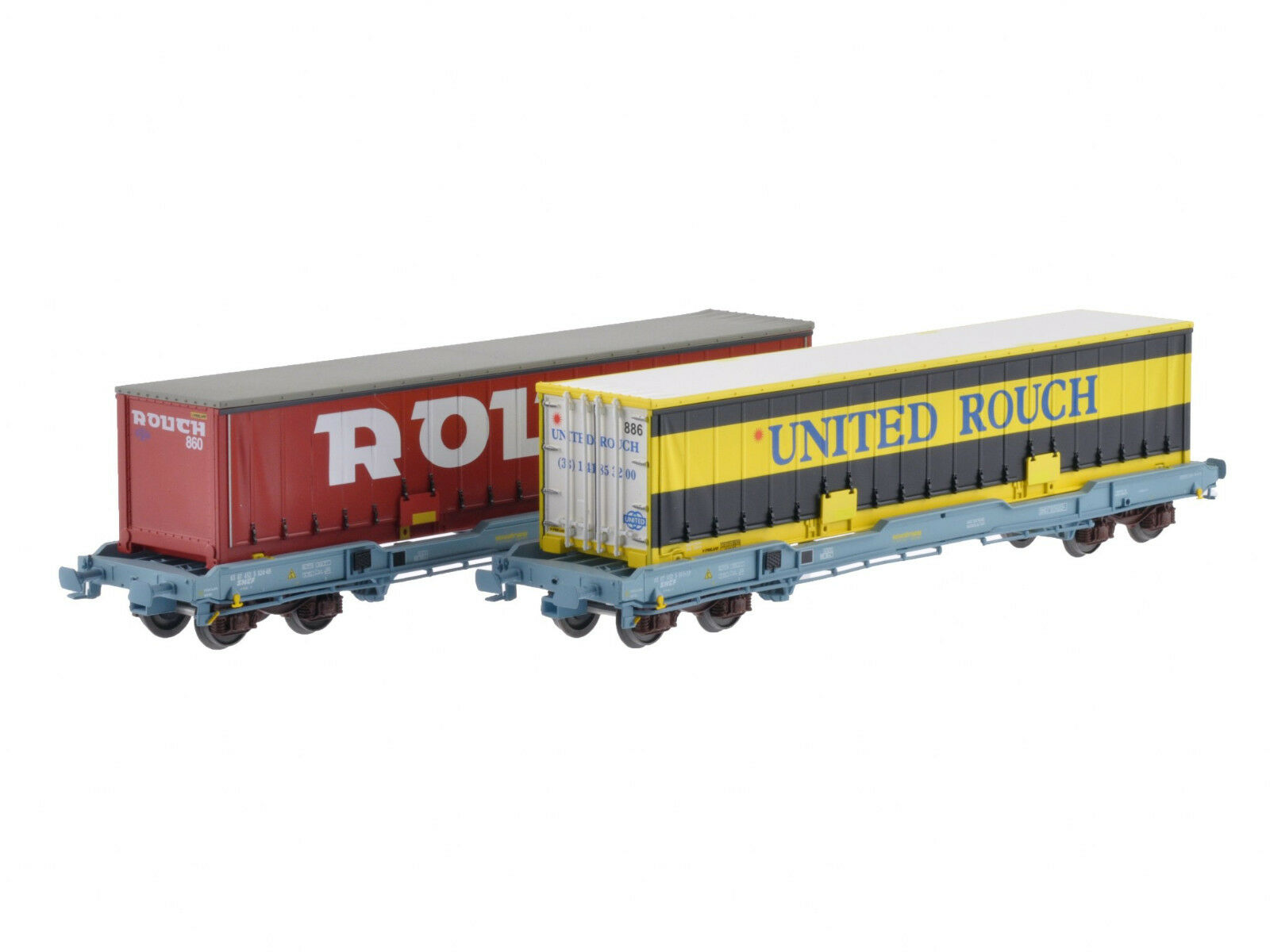LS Models 30314 Set 2 SNCF containertragwg KC Nova Trans blaugr 40' Rouch ep5 NUOVO