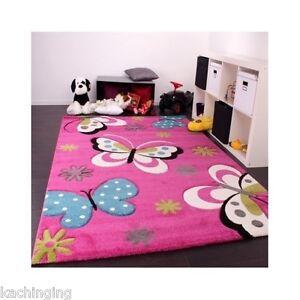 butterfly rug nursery girls children playroom princess