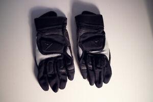Handschuhe-Gloves-Dainese-schwarz-grau-Protektor-Groesse-XL-Motorrad