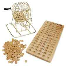 Royal Wooden Vintage Bingo Game Set With Brass Cage Old Fashion Fun Parties