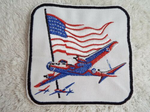 """E19 American Bomber Airplane Flag 4-3//4/"""" Embroidery Iron-on Custom Patch"""