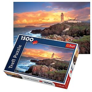 Trefl-1500-Piece-adulte-large-Fanad-Head-Lighthouse-Irlande-Floor-Puzzle