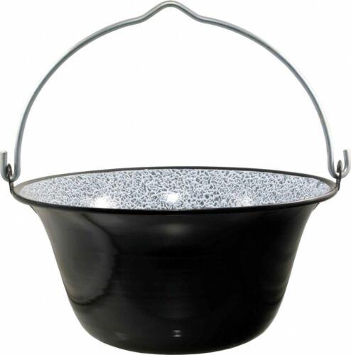 B Stock Best Sporting Enamel Goulash//Eintopfkessel Black Size from 6-40 L