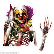Halloween CREEPY CARNIVAL Circus Killer Clown Car Window Cling Decoration