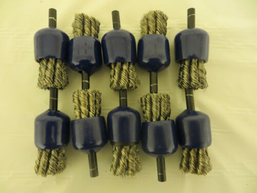 """3//4 Wire Knot End Brush Stainless Steel with 1//4/"""" Shank Lot of 10"""