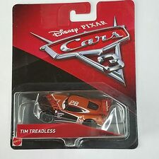 Disney Pixar Cars 3 Tim Treadless # 28 Nitroade New Body Diecast Mattel 1:55