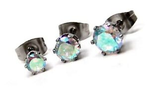 Aurora-Borealis-Stud-Earrings-Hypoallergenic-Surgical-Steel-3-Sizes-Offered