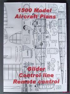 Dvd Rom Of 1500 Flying Model Aircraft Plans Balsa Wood Ebay