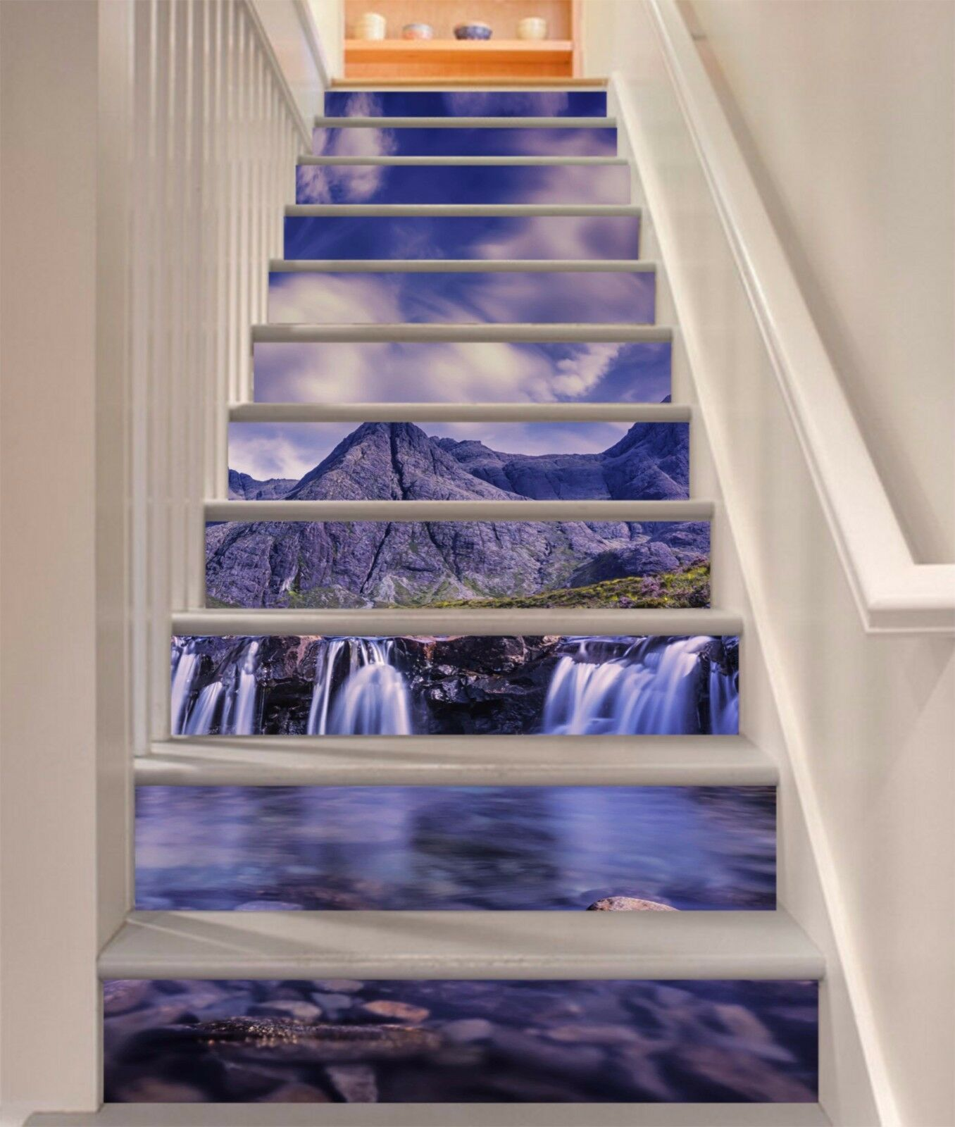 3D Lake Falls 228 Stair Risers Decoration Photo Mural Vinyl Decal Wallpaper AU