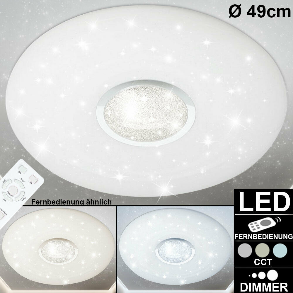LED crystal ceiling lamp DIMMABLE stars effect REMOTE CONTROL timer light new