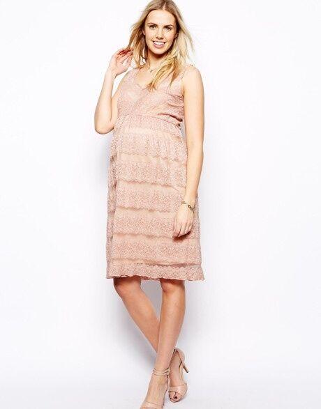 New ASOS Lace Maternity Tank Midi Dress Size 8 10 12 14 16 18 RRP £55.00