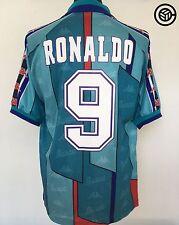 RONALDO #9 Barcelona Kappa Away Football Shirt Jersey 1996/97 (L) R9