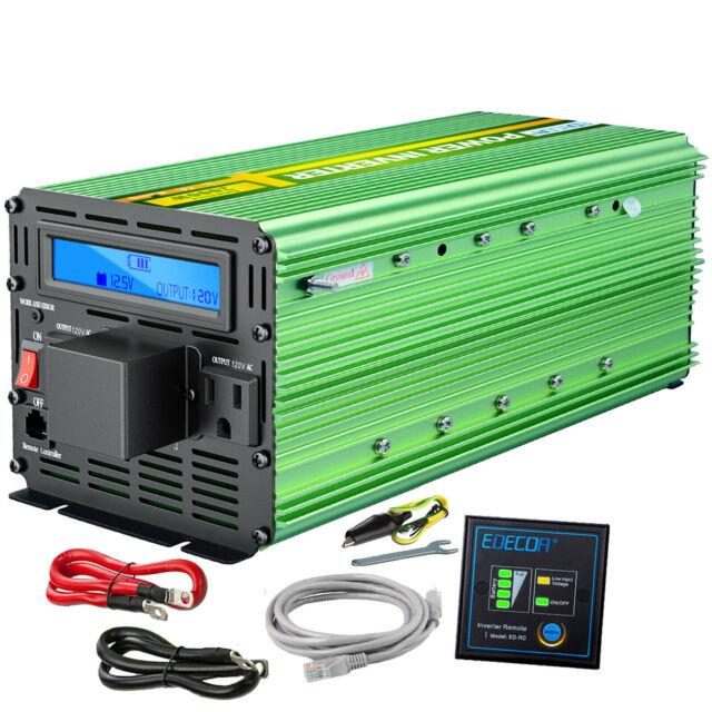 3000W 6000W Auto Wechselrichter Modified Sinus 12V 220V LCD Fernbedienung DE