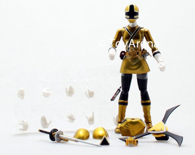 LOOSE Yellow from S.H. Figuarts Power Power Power Rangers Super Samurai Metallic Coating Set ee098d