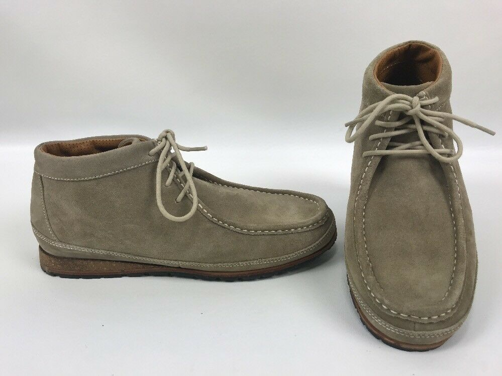 Cole Haan Moc Toe Chukka botas al Tobillo Zapatos Tacón Corcho en ante Color arena para hombre M