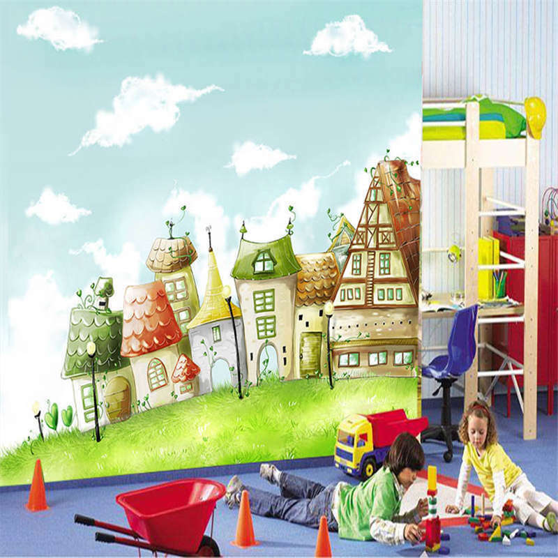 IncROTible Houses 3D Full Wall Mural Photo Wallpaper Printing Home Kids Decor
