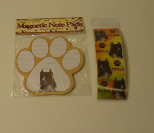 Pitbull Pit Bull Terrier Dog Breed 3D Bookmark BM-26 /& Notepad 50 Sheets NP-26