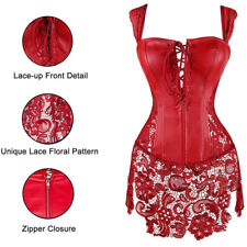 2e89ba10586 item 3 US Women Corset Top Steampunk Steel Boned Lace up Back Bustier  Overbust Lingerie -US Women Corset Top Steampunk Steel Boned Lace up Back  Bustier ...