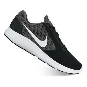 Men's NIKE REVOLUTION 3 Black+Gray 819301 Athletic Running Casual Shoes NEW