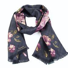 LAUREN Ralph Lauren 'Irina' Silk Floral Oblong Scarf - Purple- Combo