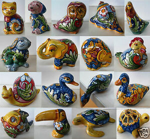 Oggetti Ceramica Di Caltagirone.Animaletti Decorati A Mano In Ceramica Di Caltagirone Ebay