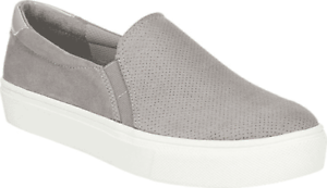 Scholl/'s Nova Slip On Sneaker Soft Grey Microfiber Perf Fabric Size Women/'s Dr