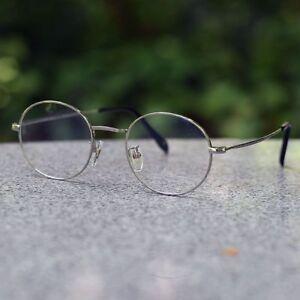a57f7ee10c Image is loading Gold-Vintage-oval-pure-titanium-eyeglasses-frame-silver-