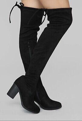 Fashion Nova Black Thigh High Boots