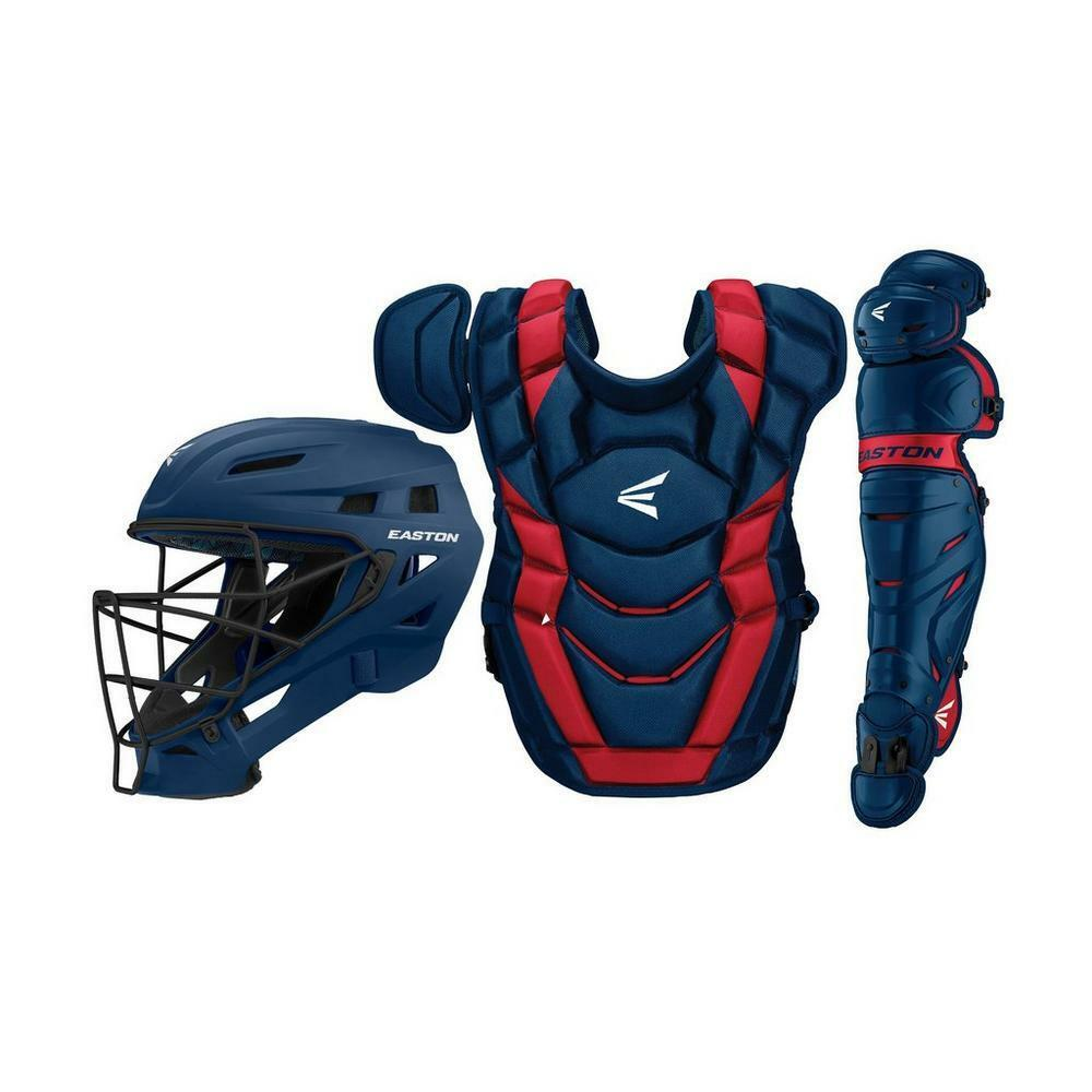 Easton Elite-X Catcher's Box Set (Adult) NAVY RED