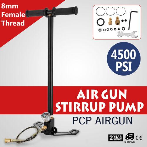3 Bühne 310Bar Standpumpe Luftpumpe Luftgewehr Füllung Ladegerät PCP Schwarz