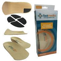 TalarMade Footmedics Foot Feet 3/4 Firm Pronation Arch Support Shoe Insoles Pair