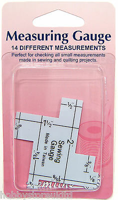 Hemline Measuring Gauge Sewing Gauge Imperial Inches Quiliting Measuring Guide