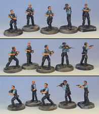 Armorcast 28mm Pewter TAC003 Narcotics Team - New Modern Mobocracy Minis