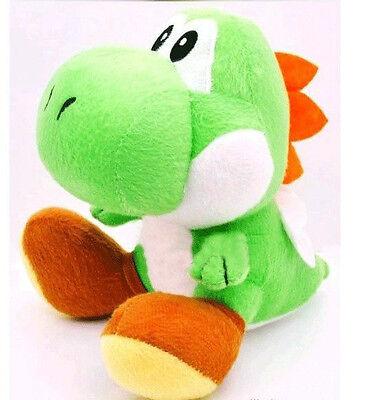 "Nintendo Super Mario Brothers Bros Green Yoshi 7"" Stuffed Toy Kids Plush Doll"