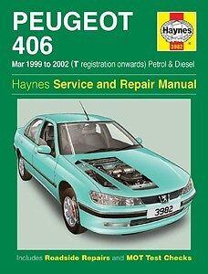 haynes owners workshop car manual peugeot 406 petrol diesel 99 rh ebay co uk Haynes Car Manuals 91 F 150 Haynes Car Manuals Spreads