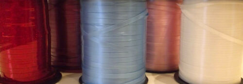 5MM - 10 Mtr Lengths of Balloon Curling Ribbon White, Baby Pink, Baby Blue, Red