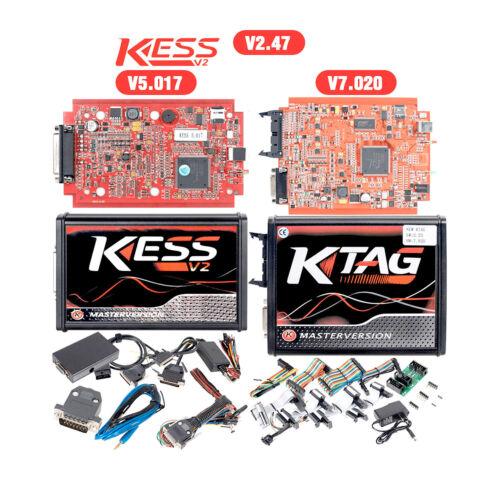 Chiptuning KESS Rojo Master V5.017//KTAG V7.020//OBD2 Afinación ECU Programmierer